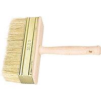 Кисть-ракля, 30 х 70 мм, натуральная щетина, деревянный корпус, деревянная ручка Россия