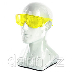 Очки защитные открытого типа, желтые, ударопрочный поликарбонат Россия Сибртех