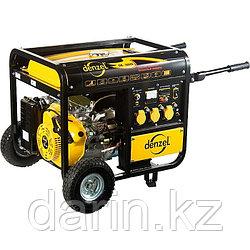 Генератор бензиновый DB5000Е, 4,5 кВт, 220 В/50Гц, 25 л, электростартер Denzel
