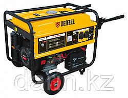 Генератор бензиновый GE 4500Е, 4,5 кВт, 220 В/50 Гц, 25 л, электростартер Denzel