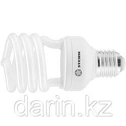 Лампа компактная люминесцентная, полуспиральная, 20 W, 2700K, E27, 8000ч Stern