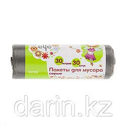 Пакеты для мусора 30 л х 30 шт, серые, Россия Elfe