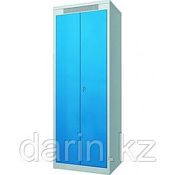 Шкаф металлический гардеробный ШМГ- 320, двустворчатая дверь, отсек для головного убора.