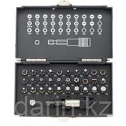 Набор бит, магнитный адаптер, сталь S2, пластиковый кейс, 32 предмета Gross