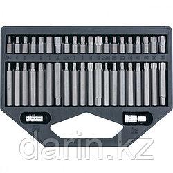 Набор бит HEX, Torx , SPLine, хвостовик-шестигранник 1/2, CrV, 42 шт. Stels