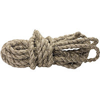 Веревка льнопеньковая, D 10 мм, L 6 м, крученая Россия Сибртех