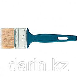 """Кисть флейцевая """"Эксперт"""", 70 х 6 мм, натуральная щетина, пластиковая ручка Сибртех"""