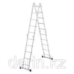Лестница шарнирная алюминиевая, 4 х 5 ступеней, Россия, Сибртех