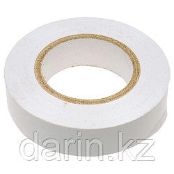 Изолента ПВХ, 19 мм х 20 м, белая Сибртех