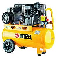 Компрессор масляный PC 2/50-400, Х-Pro, ременный, 10 бар, производительность 400 л/мин, 2.3 кВт, 220В Denzel