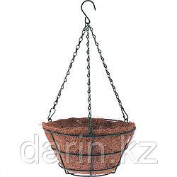 Кашпо подвесное с вкладышем из коковиты, конус D 25 см Palisad