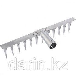 Грабли, нержавеющая сталь, 340 мм, 14 витых зубьев, без черенка, Россия, Сибртех