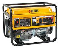 Генератор бензиновый GE 7900, 6.5 кВт, 220 В/50 Гц, 25 л, ручной пуск Denzel