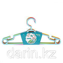 Вешалка пластиковая для легкой одежды 38 см, цветная, 5 шт, в комплекте Elfe