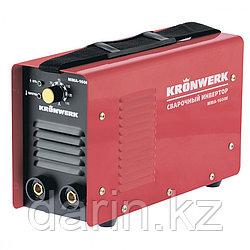 Аппарат инверторный дуговой сварки ММА-160IW, 160 А, ПВР60%, диаметр электрода 1.6-3.2 мм, провод 2 м Kronwerk