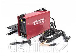 Аппарат инверторный дуговой сварки ММА-220IW, 220 А, ПВР 60%, диаметр электрода 1.6-5 мм, провод 2 м Kronwerk