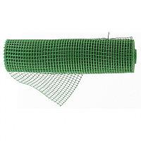 Решетка заборная в рулоне, облегченная, 1.5 х 25 м, ячейка 70 х 70 мм, пластиковая, зеленая, Россия