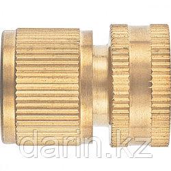 Соединитель латунный, быстросъемный, внутренняя резьба 1/2, аквастоп Palisad
