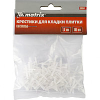 Крестики, 1.5 мм, для кладки плитки, 100 шт Matrix