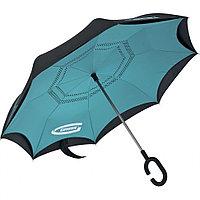 Зонт-трость обратного сложения, эргономичная рукоятка с покрытием Soft ToucH Gross, фото 1
