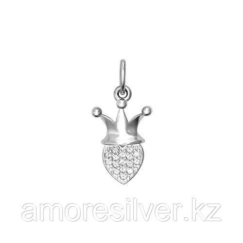 Подвеска SOKOLOV серебро с родием, фианит, love 94031118