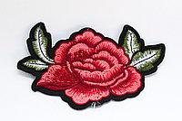 "Нашивка на одежду, ""Роза"", 10 см"