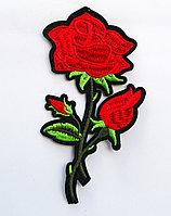 "Нашивка на одежду, ""Роза"", 12 см"