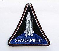 """Нашивка на одежду, """"SPACE PILOT"""", 9 см"""