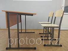 Комплект: парта двухместная и два стула, фото 2