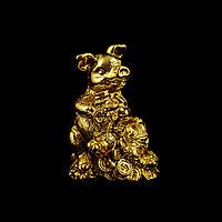 Золотые новогодние статуэтки «На удачу»