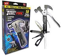 Многофункциональный молоток-гвоздодер Tac Tool 18 in 1