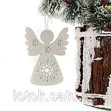 Новогодняя, деревянная подвеска  «Ангел»