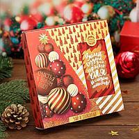 Набор чай чёрный и шоколад «Счастья в новом году»