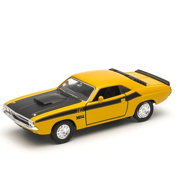 Игрушка Welly (Велли) модель  винтажной машины 1:34-39 Dodge Challenger 1970