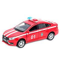 Игрушка Welly (Велли) модель  машины 1:34-39 LADA VESTA пожарная охрана