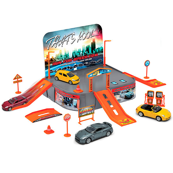 Игрушка Welly (Велли) игровой набор Гараж,  включает 1 машину
