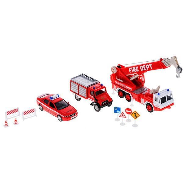 """Игрушка Welly (Велли) набор машин """"Пожарная служба"""" 10 шт."""
