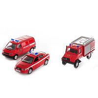 """Игрушка Welly (Велли) набор машин """"Пожарная служба"""" 3 шт., фото 1"""