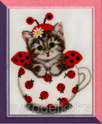 """Набор для вышивания крестом """"Котенок в чашке. Наши любимцы"""""""