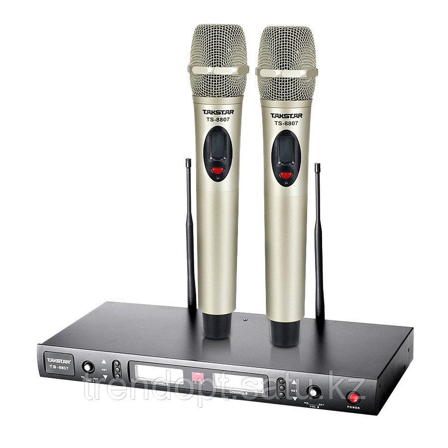 Takstar TS-8807 увч беспроводная микрофон система FM 2 приёмник и передатчик