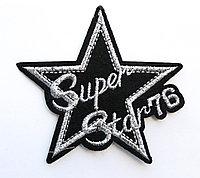 "Нашивка на одежду, ""Super Star 76"", 7 см"