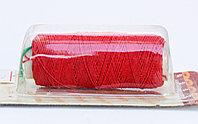 """Нить-резинка (спандекс) с текстильной оплеткой """"King Bird"""", красная"""