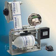 Полуавтоматическое оборудование для нанесения  самоклеящихся этикеток на круглые бутылки или банки