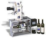 Полуавтоматическое оборудование для нанесения  самоклеящихся этикеток на круглые бутылки или банки, фото 2