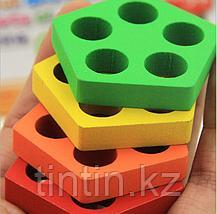 Деревянная логическая игра - Геометрия, фото 3