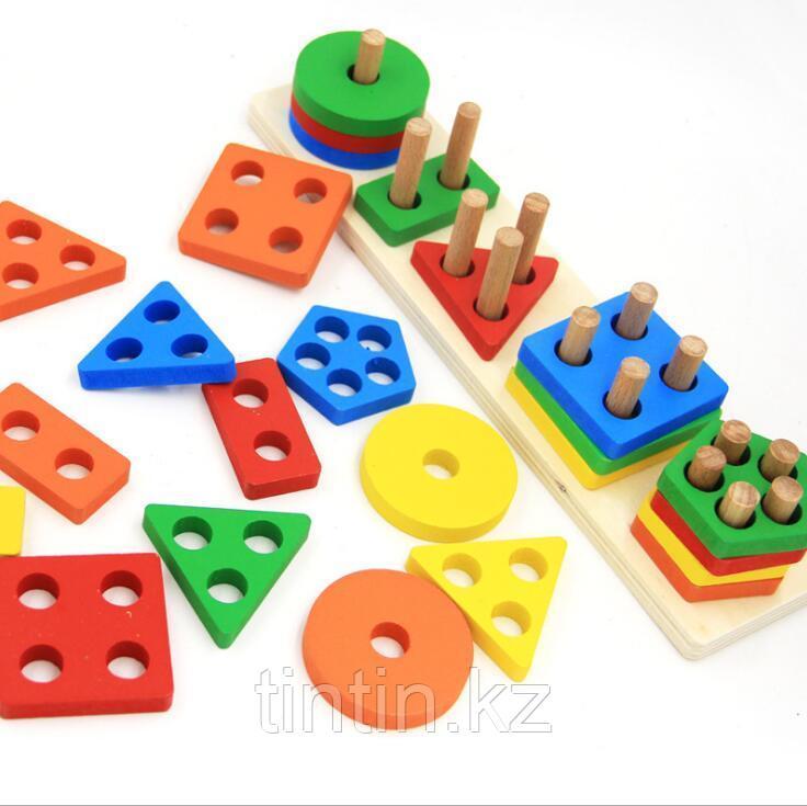 Деревянная логическая игра - Геометрия