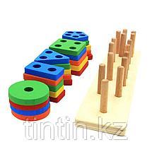 Деревянная логическая игра - Геометрия, фото 2