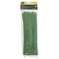 Хомуты, 300 x 3,6 мм, пластиковые, зеленые, 100 шт Сибртех