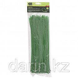 Хомуты, 300 x 3.6 мм, пластиковые, зеленые, 100 шт Сибртех