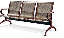 Скамья 3х секционная для залов ожидания, фото 2